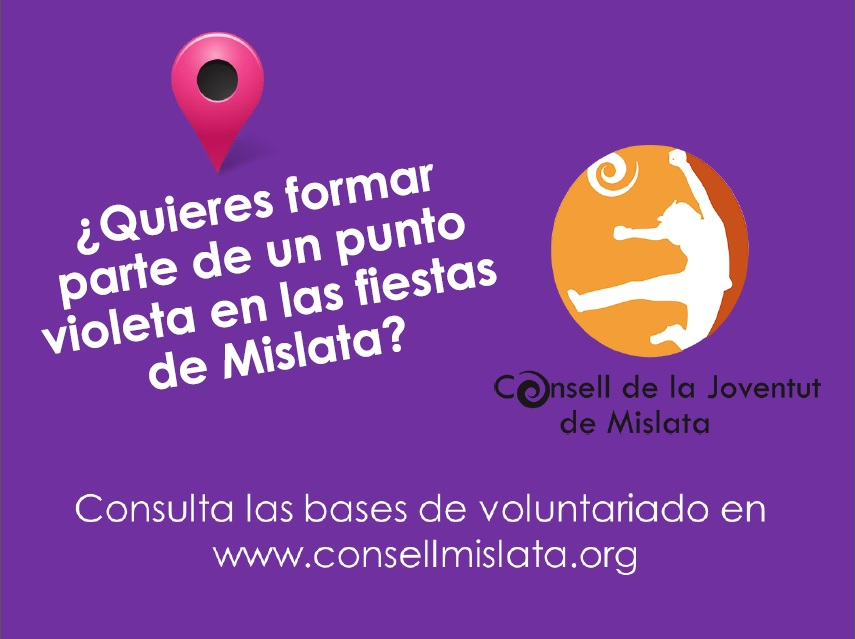 ¿Quieres formar parte de la bolsa de voluntariado para dinamizar el punto violeta de las fiestas de Mislata?